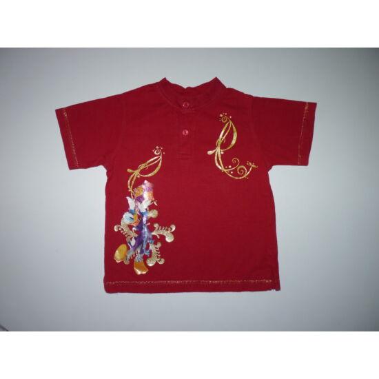 104-es Disney Donald arany mintás póló