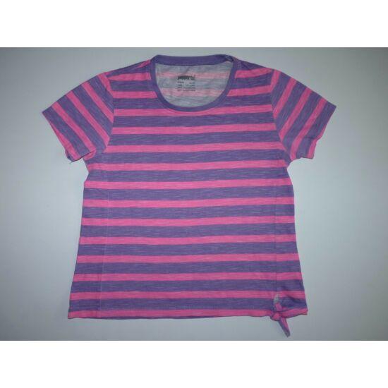 146/152-es lila-ciklámen csíkos vagány póló