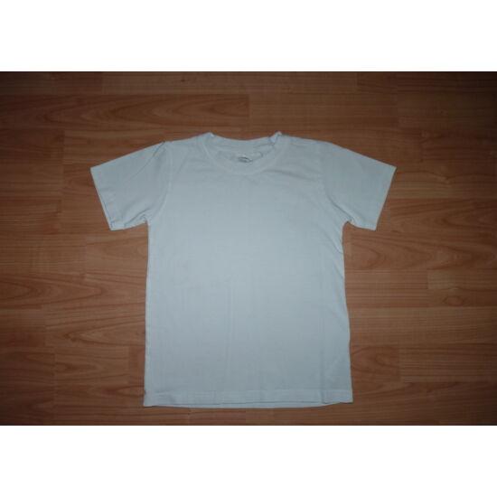 122/128-as fehér rövid ujjú póló