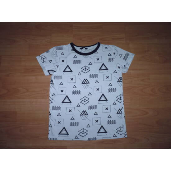 146 152-es fekete fehér vagány pamut póló - Pólók 70c65c2762