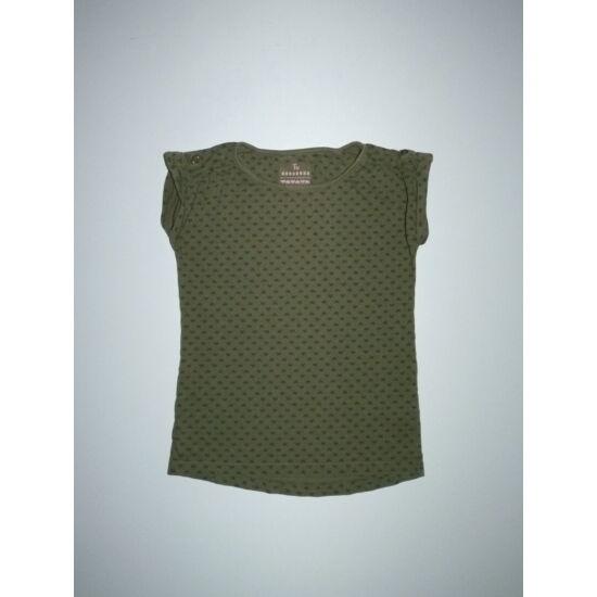 128-as TU vagány keki szívecskés póló