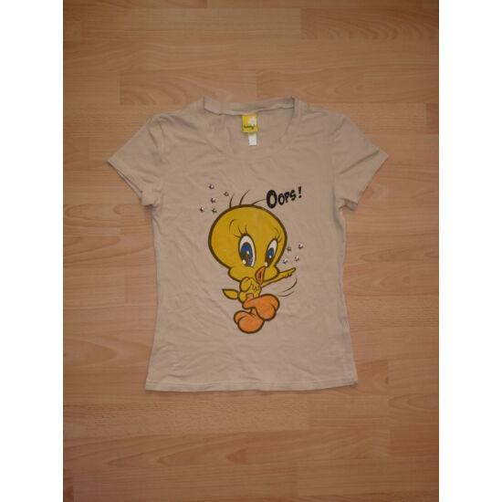 Drapp színű Csőrike mintás póló