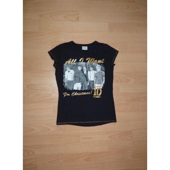 140/146-os One Direction csinos pamut póló