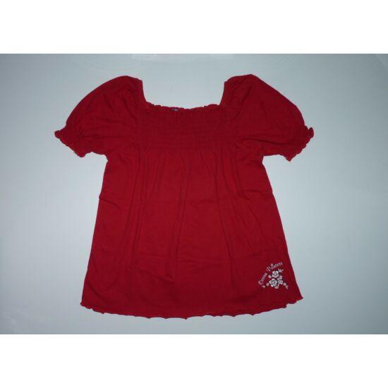 122-es piros, csinos pamut póló