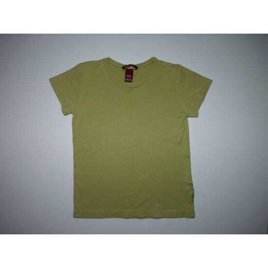 128-as H&M egyszínű zöld pamut póló