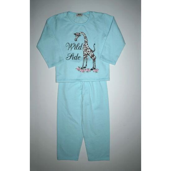 ~122/128-as zsiráfos meleg lány pizsama