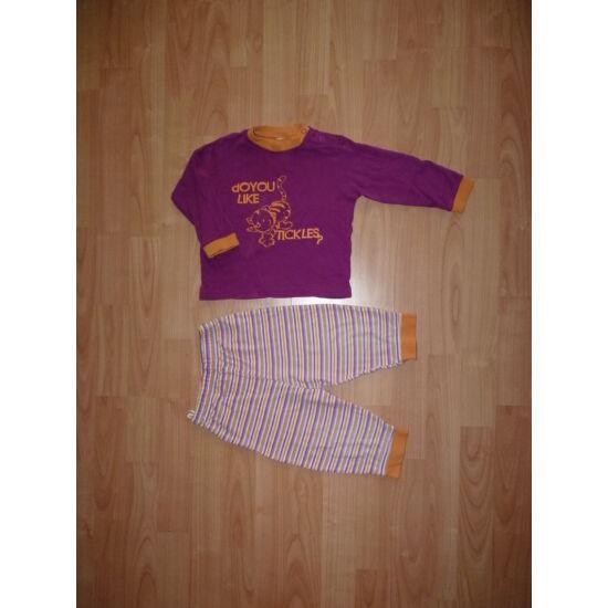 86-os C&A kislány pamut pizsama