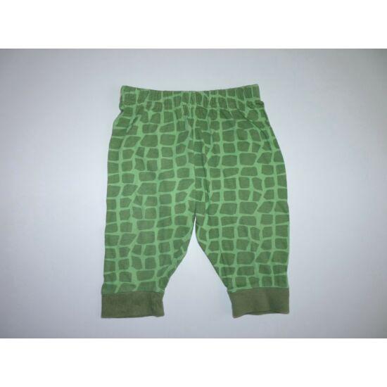 74/80-as zöld pamut nadrág