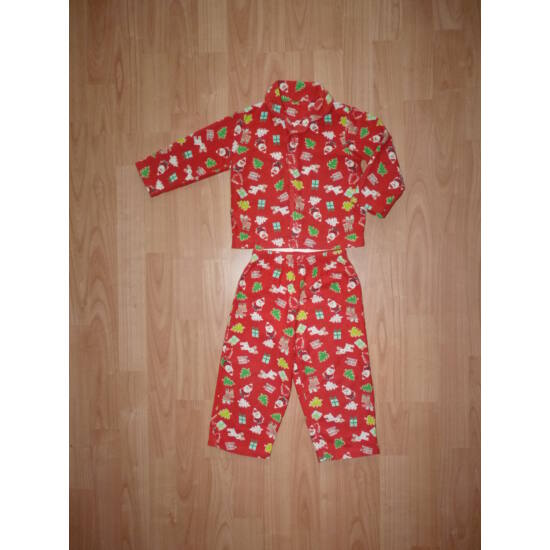 92-es karácsonyi pizsama Mikulás, rénszarvas mintával