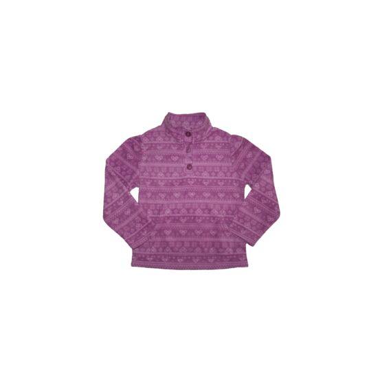 128-as YD lila szívecskés pulóver