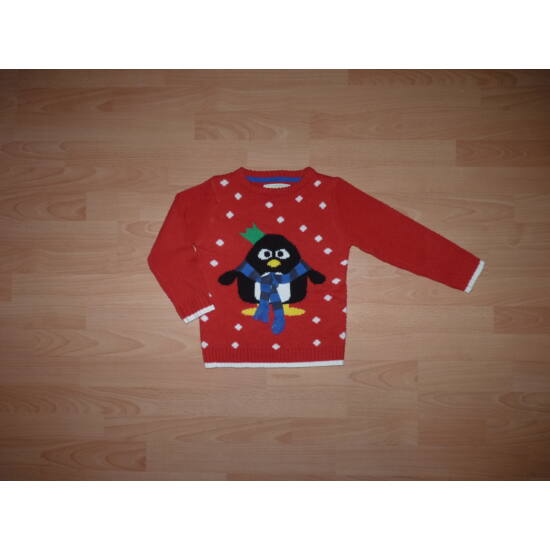 116-os Marks&Spencer téli kötött pulóver pingvin mintával