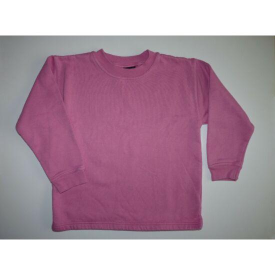 122/128-as erős rózsaszín, középvastag pamut felső