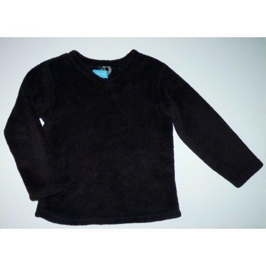 128-as fekete puha wellsoft pulóver