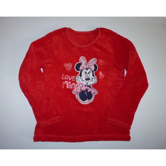 122/128-as pihe-puha Minnie mintás piros pulóver