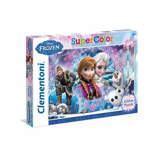 Clementoni - Jégvarázs, Frozen csillámos puzzle - 104 darabos