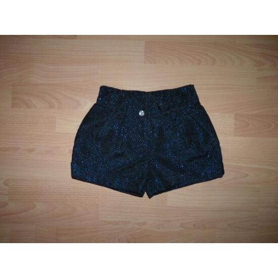 116-os Marks&Spencer fekete alapon kék csillogós, csinos rövid nadrág