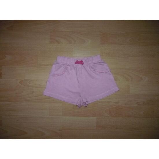 110/116-os rózsaszín, vékony pamut rövidnadrág