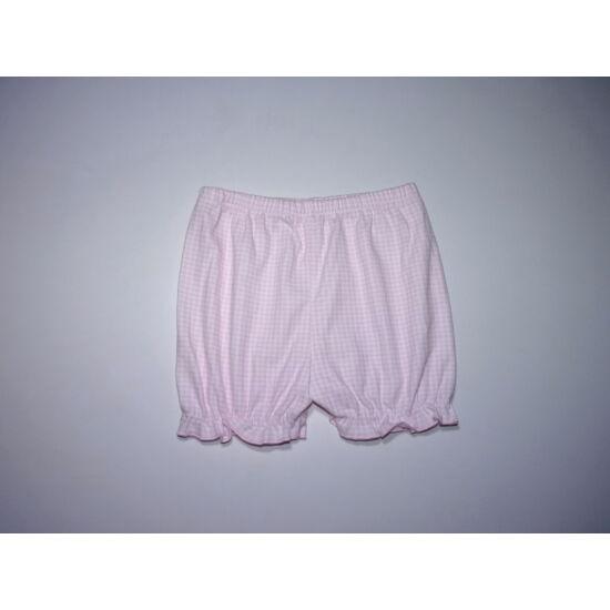 68/74-es puffos kislány pamut rövidnadrág, alsó