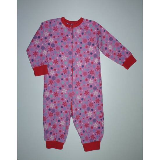 ~68/74-es csajos pamut kezeslábas, pizsama