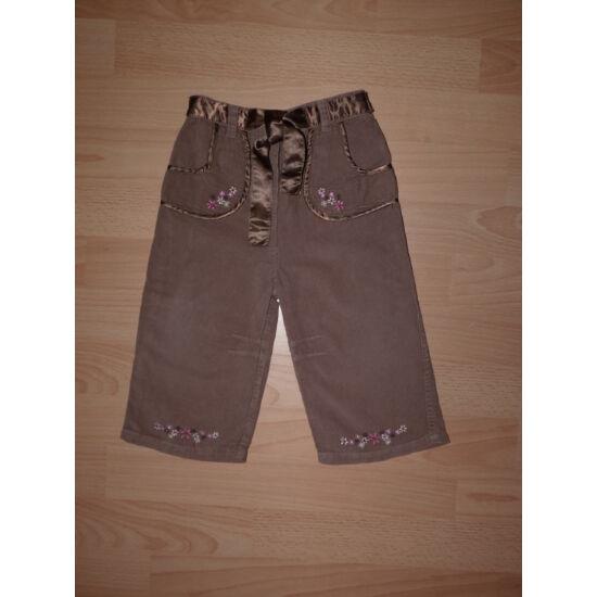 80-as csinos, mikrokord nadrág, szatén derékszalaggal