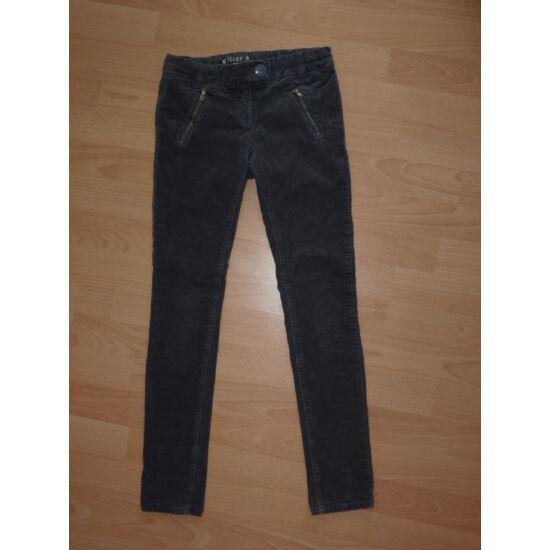 146-os, divatos, állítható derekú, mikrokord nadrág