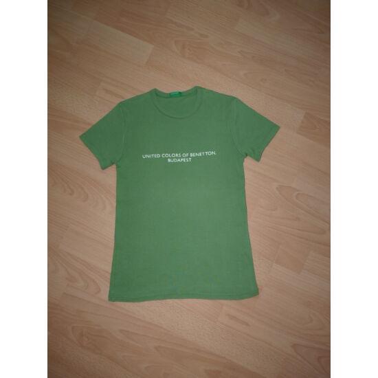 Zöld színű, rövid ujjú Benetton póló