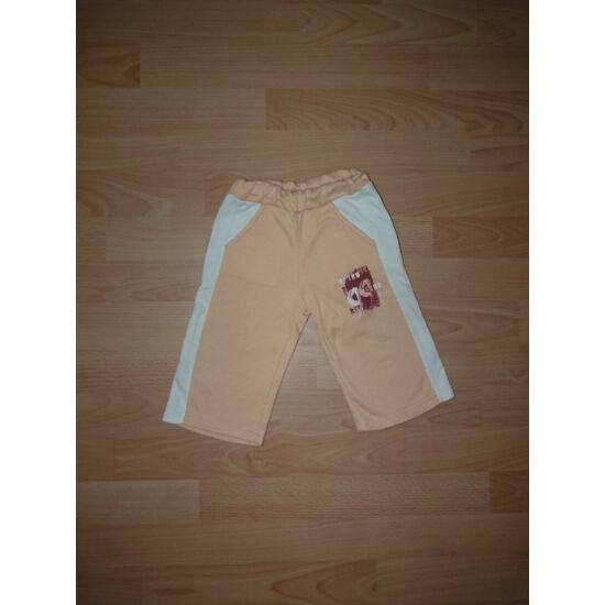 74-es barack színű pamut szabadidő nadrág