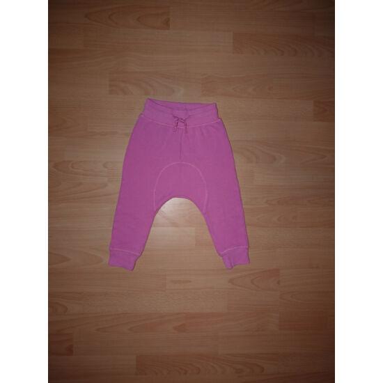 86-os, ülepes, divatos rózsaszín szabadidő nadrág