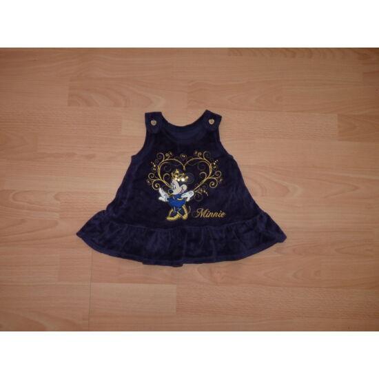 56/62-es gyönyörű plüssruha alkalmi ruha Minnie-vel arany szívben
