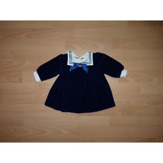 74-es sötétkék matrózos plüss alkalmi ruha
