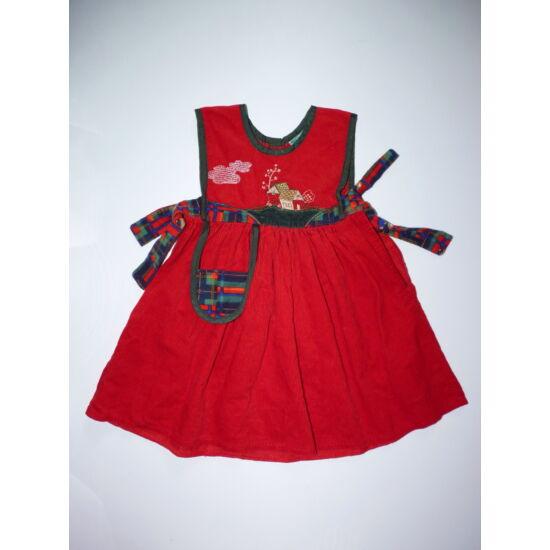 86-os tündéri piros kötényruha, jelmez kiegészítő