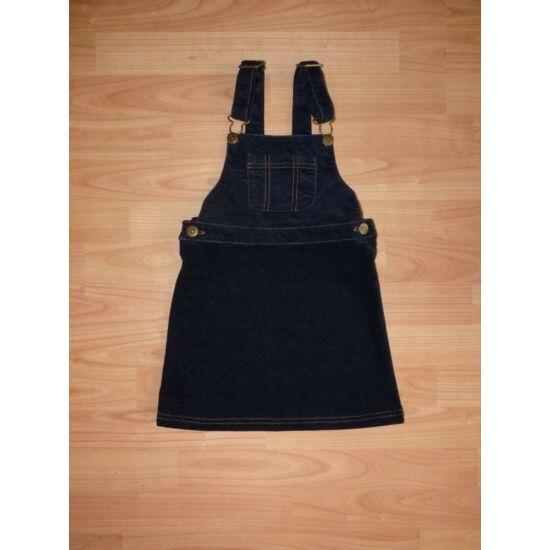 98/104-es Next sötétkék kislány kantáros ruha