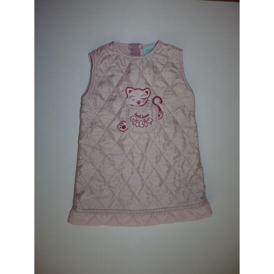 86-os csinos, rózsaszín steppelt ruha