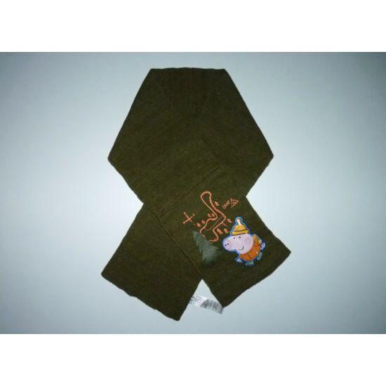 Zöld Peppa Pig mintás sál - 110 cm