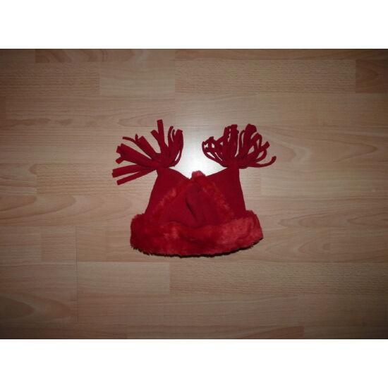0-12 hós piros karácsonyi polár sapka
