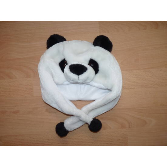 Panda macis puha plüss sapka jelmez kiegészítő