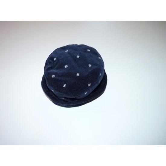 74/80-as GAP sötétkék-ezüst csodaszép bársony kalap