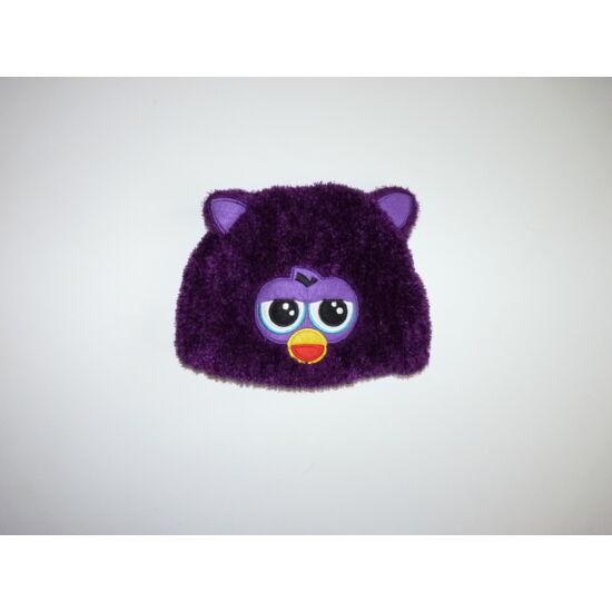 Lila Furby polár bélelt sapka ~ 3-5 év