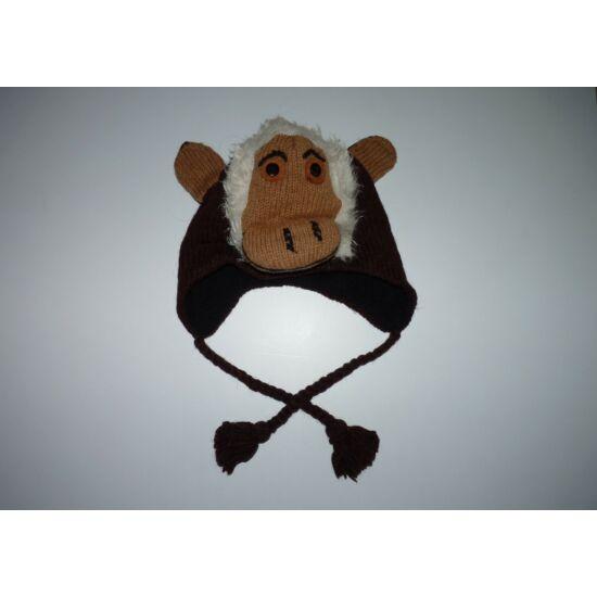 Polár bélelt majmocskás füles sapka ~3-5 év