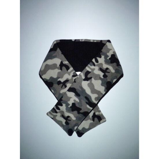 Vagány terepmintás polár sál - 112 cm