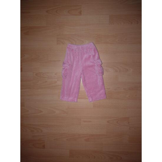 74-es puha, plüss zsebes szabadidő nadrág