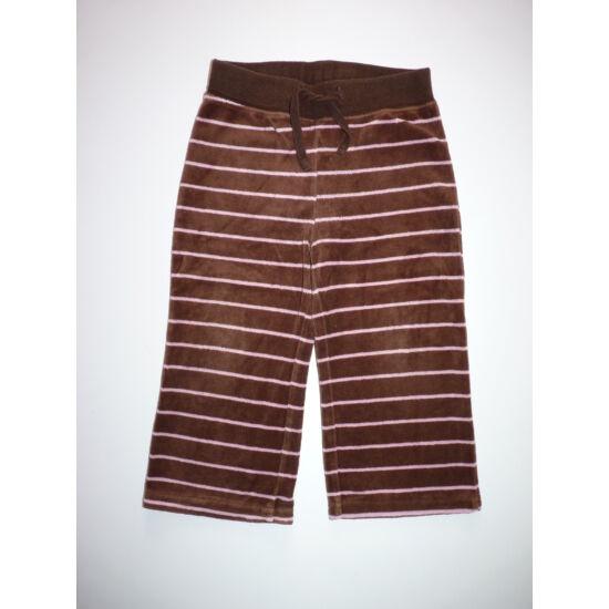92-es H&M barna-rózsaszín plüss szabadidő nadrág
