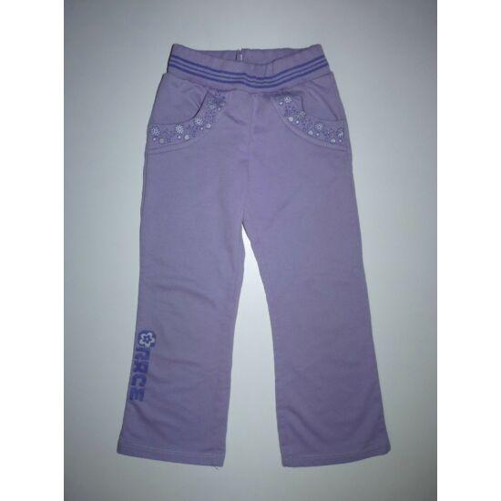 104-es lila pamut szabadidő nadrág