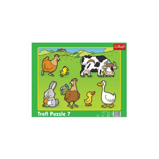 Állatok a farmon - puzzle 7 db-os