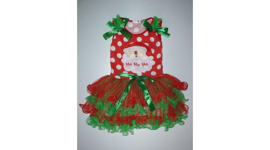 18d51c91b9 86/92-es tündéri tüllös karácsonyi Mikulás kislány ruha - 86 ...