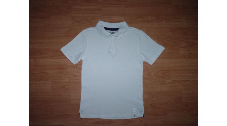 140-es fehér galléros póló horgonnyal - Pólók fa5ed5030d