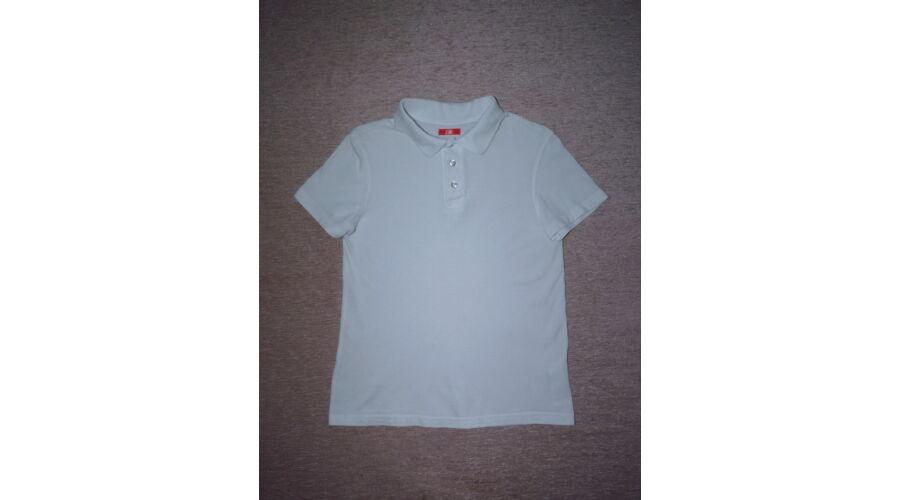 134-es fehér galléros pamut póló - Pólók 9dd99bad6b