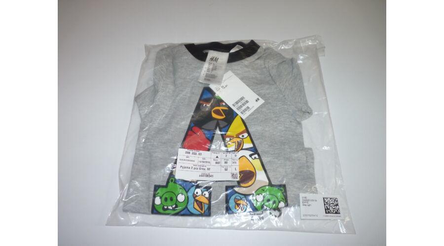 ca04b10ad2 Új, 92-es H&M Angry Birds szuper pamut pizsama - Pólók, felsők ...