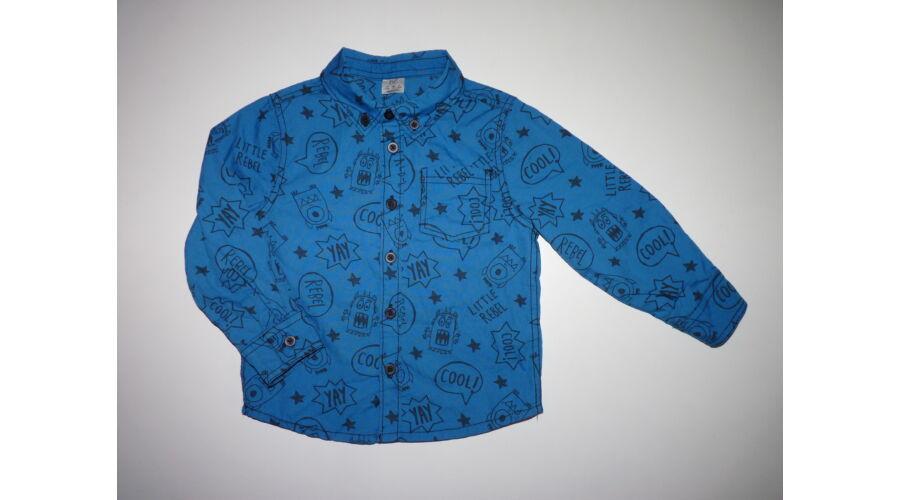 98-as vagány kék Little Rebel mintás fiú ing - Pólók 2e8bbbe75c