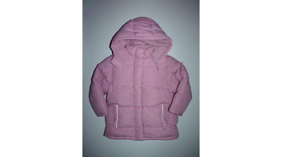 110-es bélelt téli kislány kabát hímzett virágokkal - Kabátok ... 50d990b628